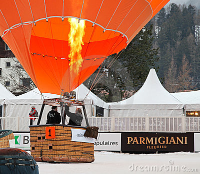 2012 Hot Air Balloon Festival, Switzerland Editorial Image