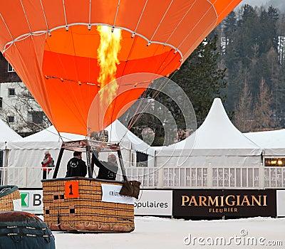 2012 Hot Air Balloon Festival, Switzerland Editorial Image