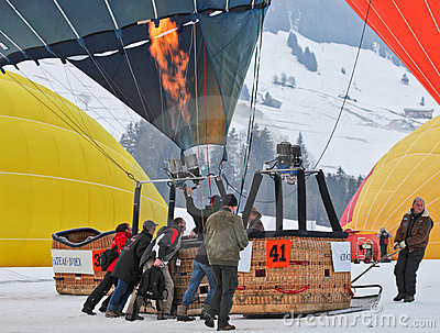 2012 Hot Air Balloon Festival, Switzerland Editorial Stock Image