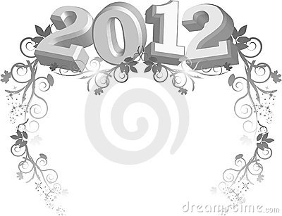 2012 image with floral border