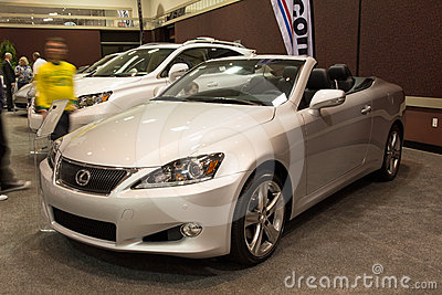 2012 Lexus IS Convertible Editorial Photography