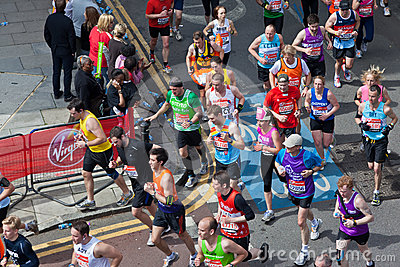 2012 London maratonu dziewica Obraz Editorial