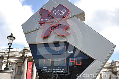 2012 London Olympics Countdown Clock Editorial Stock Photo
