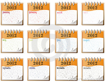 2012 monthly notes