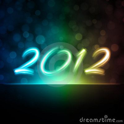 2012 New Year background