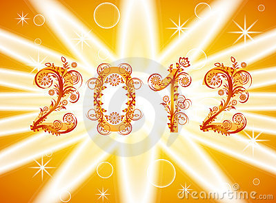 2012 new year background with floral or