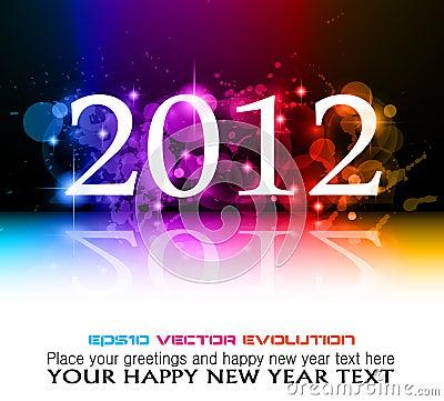 2012 New Year celebration background