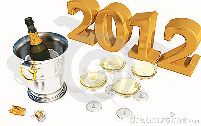 2012 New Year with Champagne