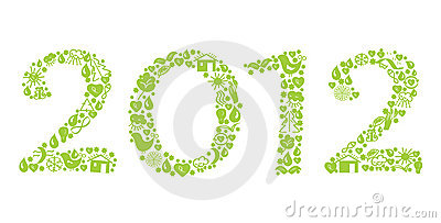 2012 new year ecological sign