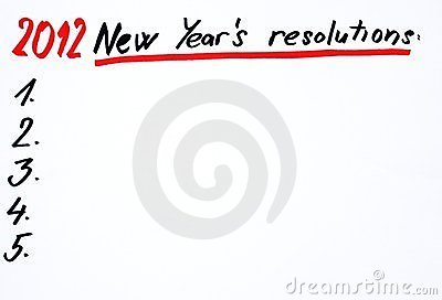 2012 New year´s resolutions