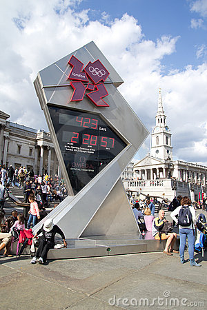 2012 Olympic Countdown Clock Editorial Photography