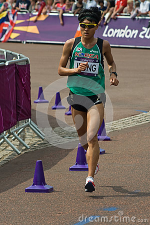 2012 Olympic Marathon Editorial Stock Image