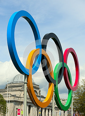 The 2012 olympic rings Editorial Stock Image