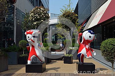 2012 Olympics Mascots Editorial Stock Photo