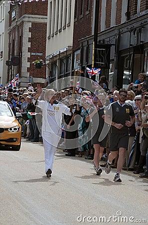 2012 płomienia olimpijska sztafetowa pochodnia Fotografia Editorial