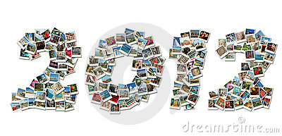 2012 PF card collage made of travel photos
