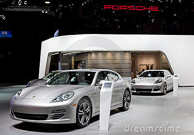 2012 Porsche Display Editorial Image
