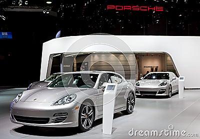 2012 Porsche Display Editorial Image