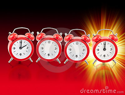 2012 red clocks