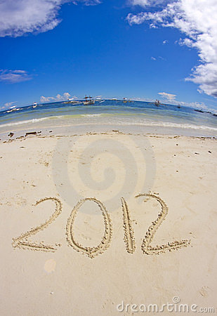 2012 on sandy beach