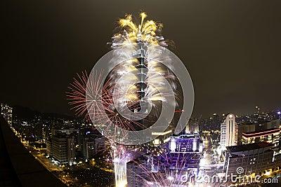 2012 Taipei 101 Happy New Year Fireworks