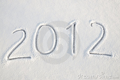 2012 text on snow