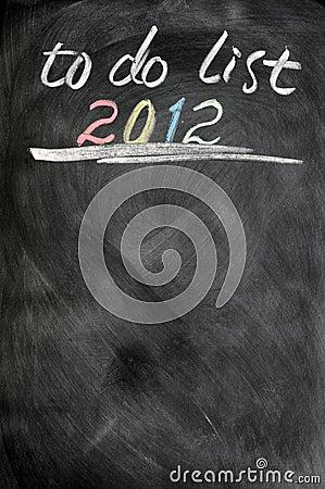 2012 to-do list