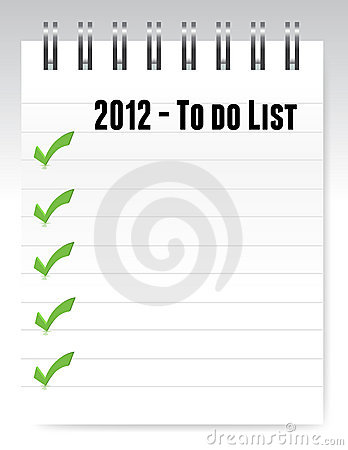 2012 to do list notepad illustration design