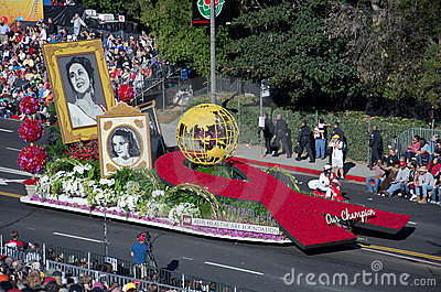 2012 Tournament of Roses Parade-AIDS Editorial Image