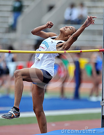 2012 Track and Field - Ladies High Jump Editorial Stock Image