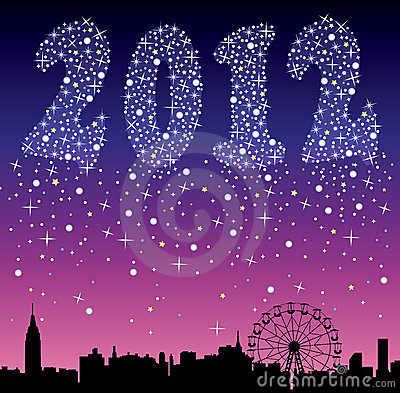 2012 urban holiday background