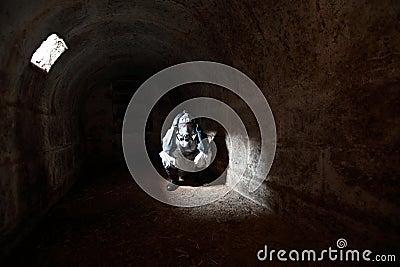 2012 wachtend op het eind van wereld in steenbunker