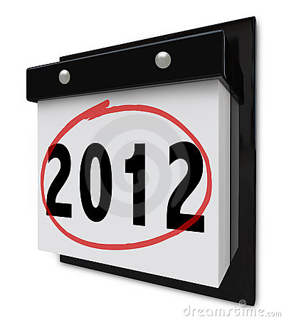 2012 - Wall Calendar Displaying New Year Date