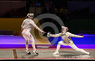 2012 World Fencing Championships in Kyiv Editorial Photo