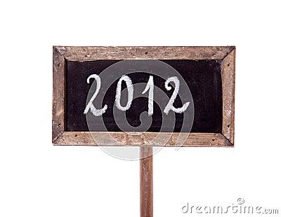 2012 written on a blackboard