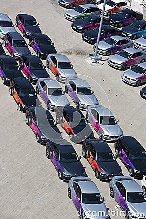 正式伦敦2012奥林匹克BMW 5系列。 编辑类库存照片