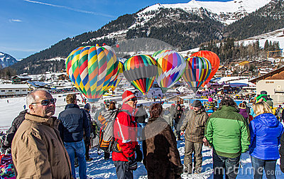2013 35th Hot Air Balloon Festival, Switzerland Editorial Stock Photo