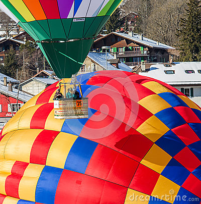 2013 35th Hot Air Balloon Festival, Switzerland Editorial Image
