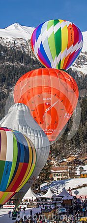 2013 35th Hot Air Balloon Festival, Switzerland Editorial Photo
