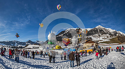 2013 35th Hot Air Balloon Festival, Switzerland Editorial Photography