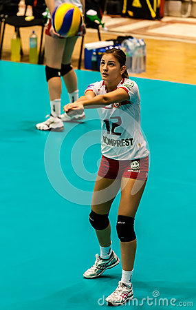 2013 CEV  Woman Volleyball Champions League Editorial Stock Photo