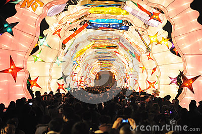 2013 Chinese Lantern Festival in Chengdu Editorial Photography