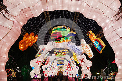 2013 Chinese New Year lantern festival and temple fair Editorial Image
