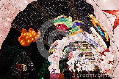 2013 Chinese New Year Lantern Festival And Temple Fair Stock Image - Image: 29072701