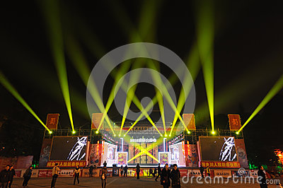 2013 Chinese New Year lantern festival and temple fair Editorial Stock Image