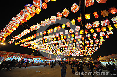 2013 Chinese New Year lantern festival and temple fair Editorial Photo
