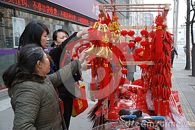 2013 chinese new year market in Chengdu Editorial Stock Image