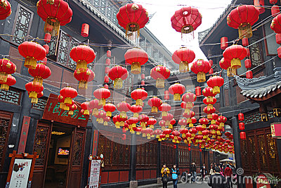 2013 Chinese New Year Temple Fair in Chengdu Editorial Stock Image