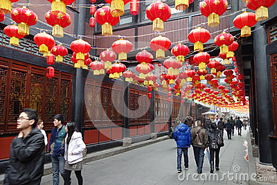 2013 Chinese New Year Temple Fair in Chengdu Editorial Image