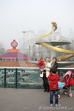 2013 chinese spring festival in Chengdu Editorial Photography